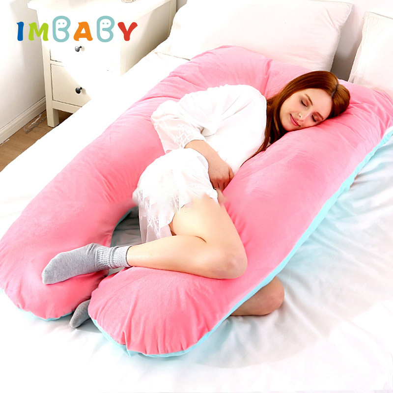 imbaby maternity pillow cover pregnant woman pillowcase u shape bed sleeping 100 cotton comfort pregnancy side sleepers cushion