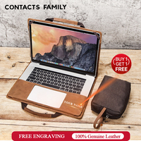 Crazy horse leather Laptop Case For Apple Macbook Pro Air 15/15.3 Inch Sleeve Detachable Notebook Cover Handheld Protective Gift