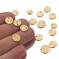 20 штук в виде кованого диска амулеты, 8 мм, 10 мм, 12 мм позолоченный Нержавеющаясталь Круглый Бланк монета бусины для самостоятельного изгото...
