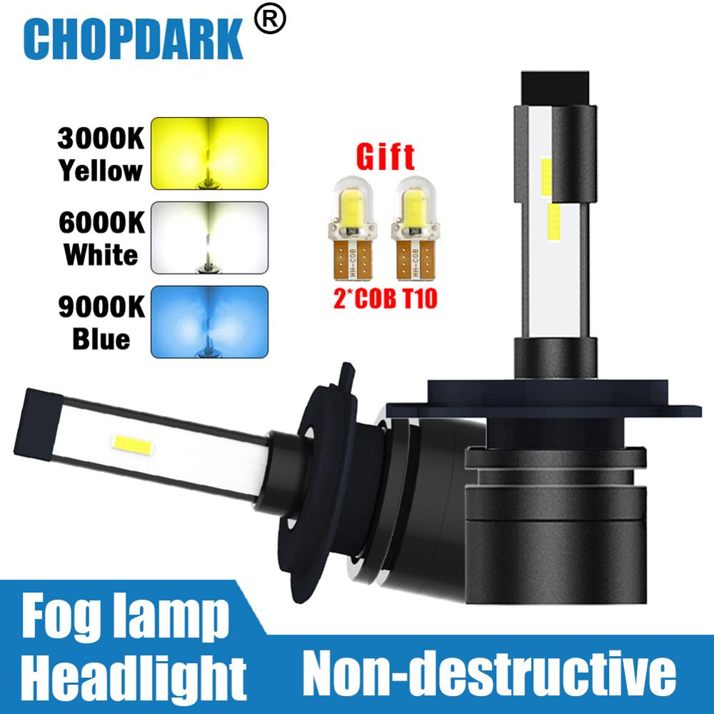 Car <font><b>LED</b></font> Headlight Bulbs Fog <font><b>Lamp</b></font> 3000K yellow 6000K white 9000K blue 9000LM H4 H7 <font><b>H1</b></font> H3 H11 HB2 9003 9005 HB3 9006 HB4 880 H27 image