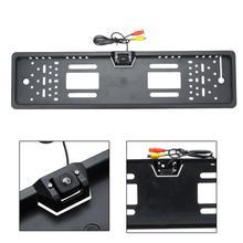 Hd Led номерной знак рамка заднего вида камера заднего вида Ccd реверсивная система изображения супер-простая установка