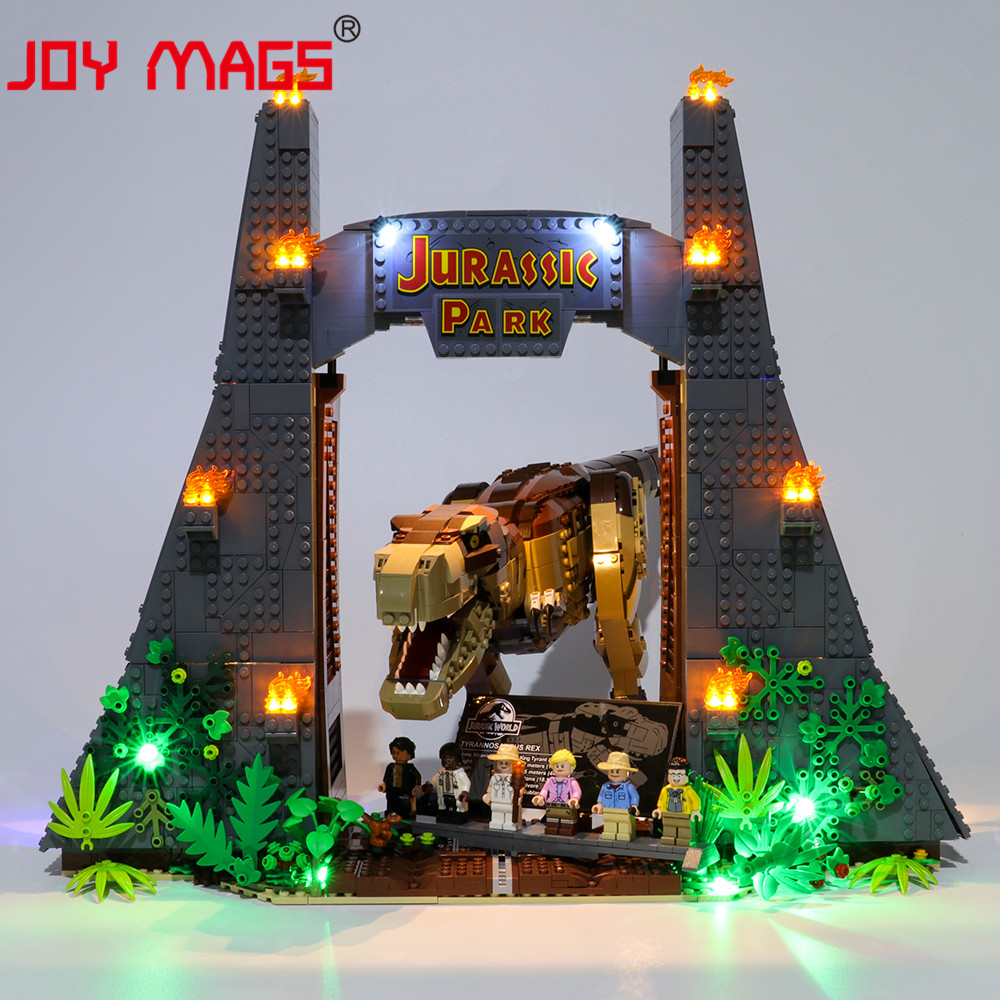 JOY MAGS Only Led Light Kit For Jurassic Park: T. Rex Rampage  Lighting Set Compatible With 75936 (NOT Include Model)