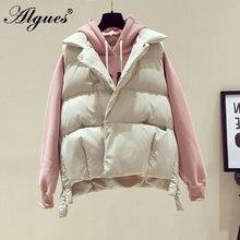 ALGUES – veste rembourrée à col rabattu pour femme, manteau d'hiver épais et chaud, 2020 coton