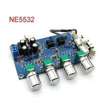 New NE5532 Stereo Pre-amp Preamplifier Tone Board Audio 4 Channels Amplifier Module 4CH CH Control Circuit Telephone Preamp