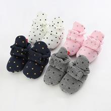 Носки для новорожденных; обувь для мальчиков и девочек; мягкие хлопковые ботинки для малышей