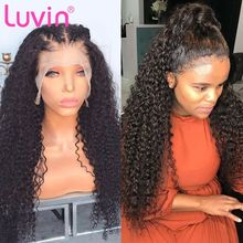 Luvin 200 density 28 30 Inch Deep Wave 13x6 Glueless Curly Lace Front Human Hair