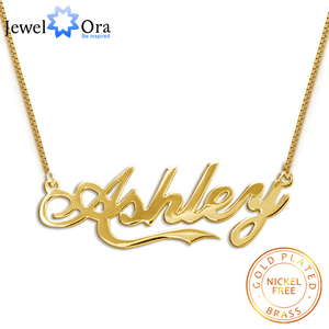 Personalized Custom Made Any Name Necklace Women Pendant Nameplate Necklaces Charm Jewelry Gift for Girls (Jewelora NE102045)
