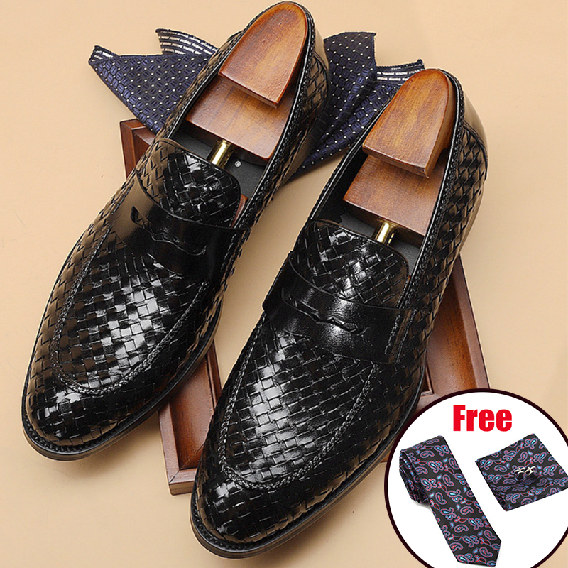 Phenkang Mens Formal Shoes Genuine Leather Oxford Shoes For Men Italian 2020 Dress Shoes Wedding Shoes Slip On Leather Brogues