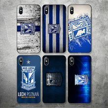 Telefoon Case Fc Lech Poznan Voor Iphone Case Diy Black Soft Tpu Case Poznan Voor Iphone 11Pro X Xr Xs max 7 8 7 Plus 6 6S 5 S Se 5(China)