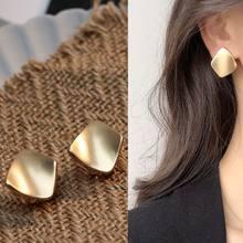 2021 eative irregular geométrico brinco ouro curvo aço inoxidável brincos de parafuso prisioneiro moda simples liga earing moda jóias