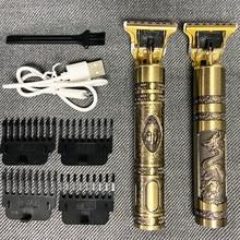 2020 USB T9 saç kesme profesyonel elektrikli saç düzeltici berber tıraş makinesi düzeltici sakal 0mm erkekler saç kesme makinesi erkekler