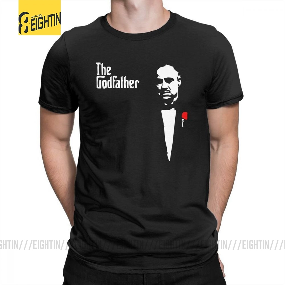Gomorra Godfather T Shirts Round Neck Men's 100% Cotton Tee Shirts T-Shirts Casual Short-Sleeve Popular Plus Size Breathable