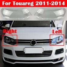 Samochód przedni reflektor szklany reflektor przezroczysty klosz lampy Shell Auto osłona obiektywu dla Volkswagen Touareg 2011-2014