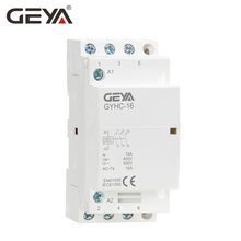 GEYA AC Contactor 3Pole 16A 20A 25A  3NO 220V Din Rail Household Contactor Automatic electromagnetic ac contactor 220v sc n3