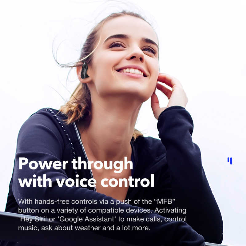 Sanlepus Wireless Earphone Bluetooth 5.0 Tws Headphone LED Display Headset dengan Mikrofon Stereo Earbud untuk Semua Ponsel Xiaomi