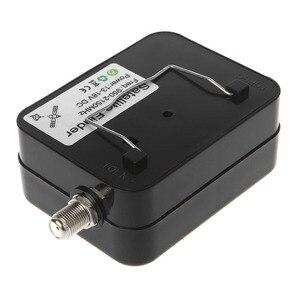 Image 3 - SF9504 Mini Sensitive Meter Buzzer wyświetlacz LCD wyszukiwanie odbiornik telewizji cyfrowej DC 13 18V przenośny lokalizator sygnału satelitarnego Tester