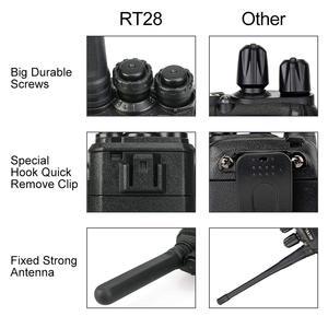 Image 5 - 10 ps retevis rt28 portátil walkie talkie vox mãos livres ctcss/dcs usb de carregamento frequência ultraelevada portátil rádio de 2 vias comunicador