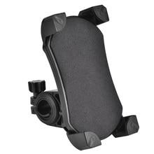 Мотоцикл велосипед руль велосипед держатель для телефона из ПВХ с 4 опорными углами для 3,5-6,5 дюймов сотовый телефон gps держатель(черный