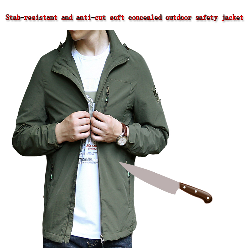 Self-defense Anti-cutting Stab-resistant Soft Stealth Jacket Safety Full Body Protection Waterproof Military Tactics Clothing
