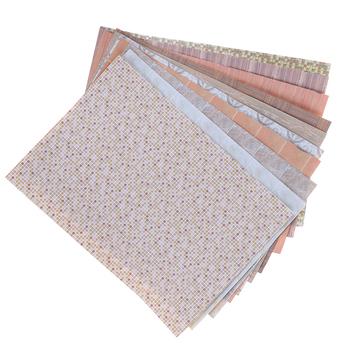 NEW1 12 Dollhouse miniaturowy papier podłogowy do domu lalek meble pokojowe wystrój wysokiej jakości tanie i dobre opinie 25-36m paper based film coating CN (pochodzenie) Unisex NONE ZYPA-868-N Wall Vinyl Stickers Decals Art