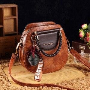 Image 2 - Petit été Vintage sacs pour femmes 2020 Pu cuir fourre tout sac à main femme messager épaule main bandoulière luxe concepteur AB02