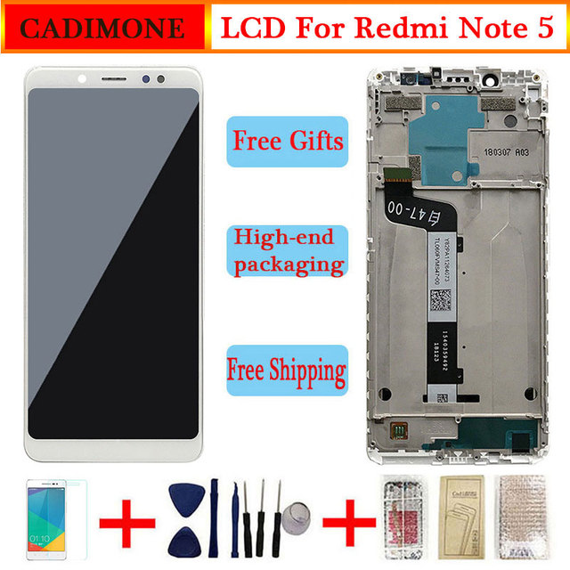 LCD ต้นฉบับสำหรับ Xiaomi Redmi หมายเหตุ 5 จอแสดงผล LCD หน้าจอกรอบสำหรับ Redmi หมายเหตุ 5 จอแสดงผล LCD หน้าจอ