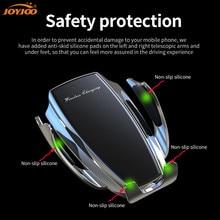 Otomatik kablosuz araba şarjı telefon tutucu yükseltilmiş hızlı Qi otomatik sıkma şarj dağı Dock foriPhone11 Pro Max/XR/Xs/8