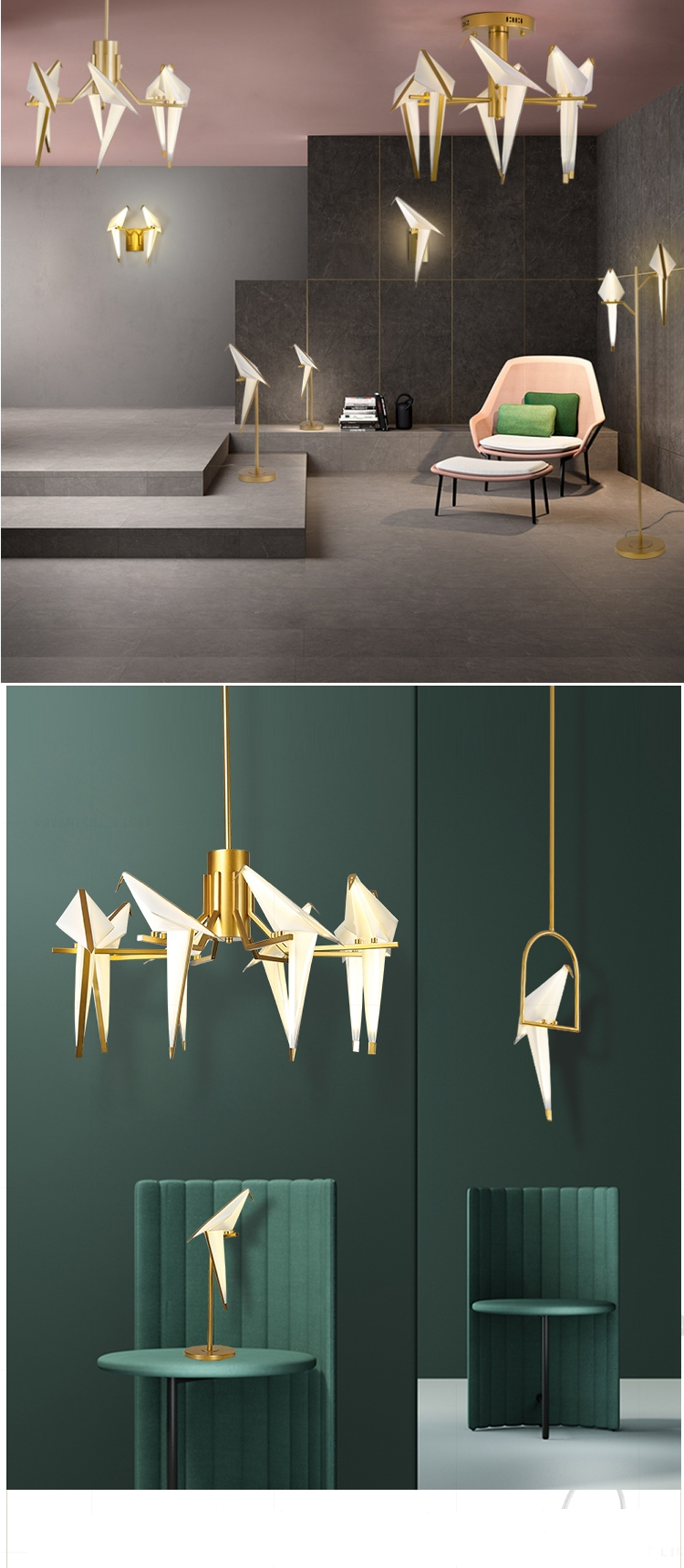 Hcc8a7b4977ed4f87922318ac88aa7aabQ - LED Postmodern Iron Acryl Love Bird LED Lamp LED Light Wall lamp Wall Light Wall Sconce For Bedroom Corridor
