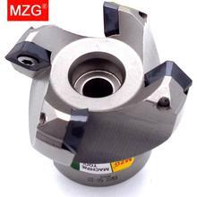 Mzg KM12R50 22 4T Vier SEKT1204 Carbide Insert Geklemd Snelle Voeden Legering End Mill Frezen Bewerking Slab Gezicht Frees