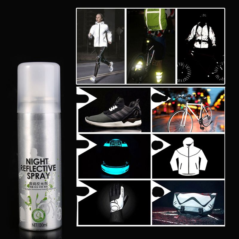 Night Reflective Spray Running Bike Fluorescence Paint Anti Accident Safety Mark