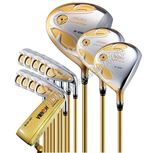 New Golf Clubs HONMA S 05 Golf Full set 4 star Golf driver wood irons putter Clubs Graphite shaft R or S Club Set shipping