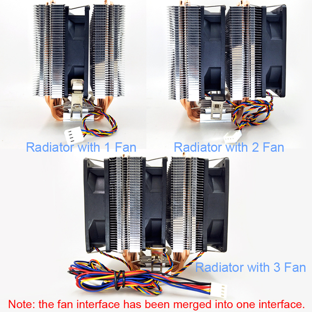 Silent 4-pin cooler cooling fan