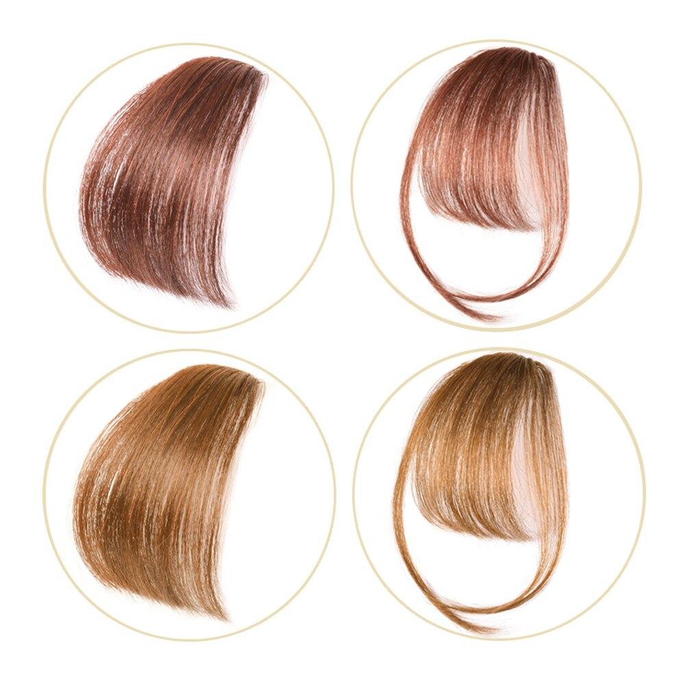 Salonchat Non-remy Hai Clip In Hair Bangs Hairpiece Accessories100% Human Hair Fake Bangs Hair Piece Clip In Hair Extensions Non