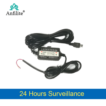 Anfilite 5V 2.5A USB 2.0 OBD Buck Line for 24 Hours Parking Monitoring Car Camera DVR Camera Cable Length 3m accessories image