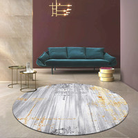 Thick Polypropylene Round Carpet Livingroom Decorative Office Round Rug Sofa Coffee Table Floor Mat Modern Nordic Bedroom Carpet