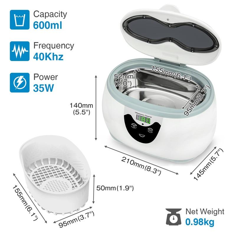 Skymen Ultrasonic Cleaner Eyeglasses Manicure Tool Cleaning Bath Sterilizer Denture Cleaner Ultrasound Jewelry Washing Machine