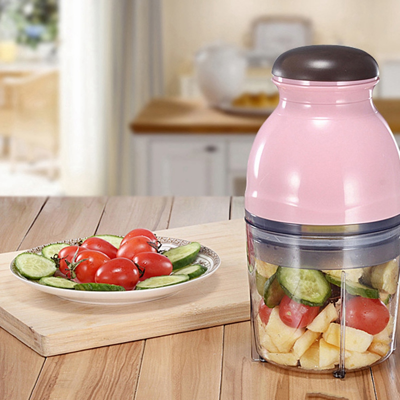 Blender Mini Electric Meat Grinder Food Processor Vegetable Fruit Blender Chopper 500Ml Kitchen Appliances Food Processor Mixer in Blenders from Home Appliances