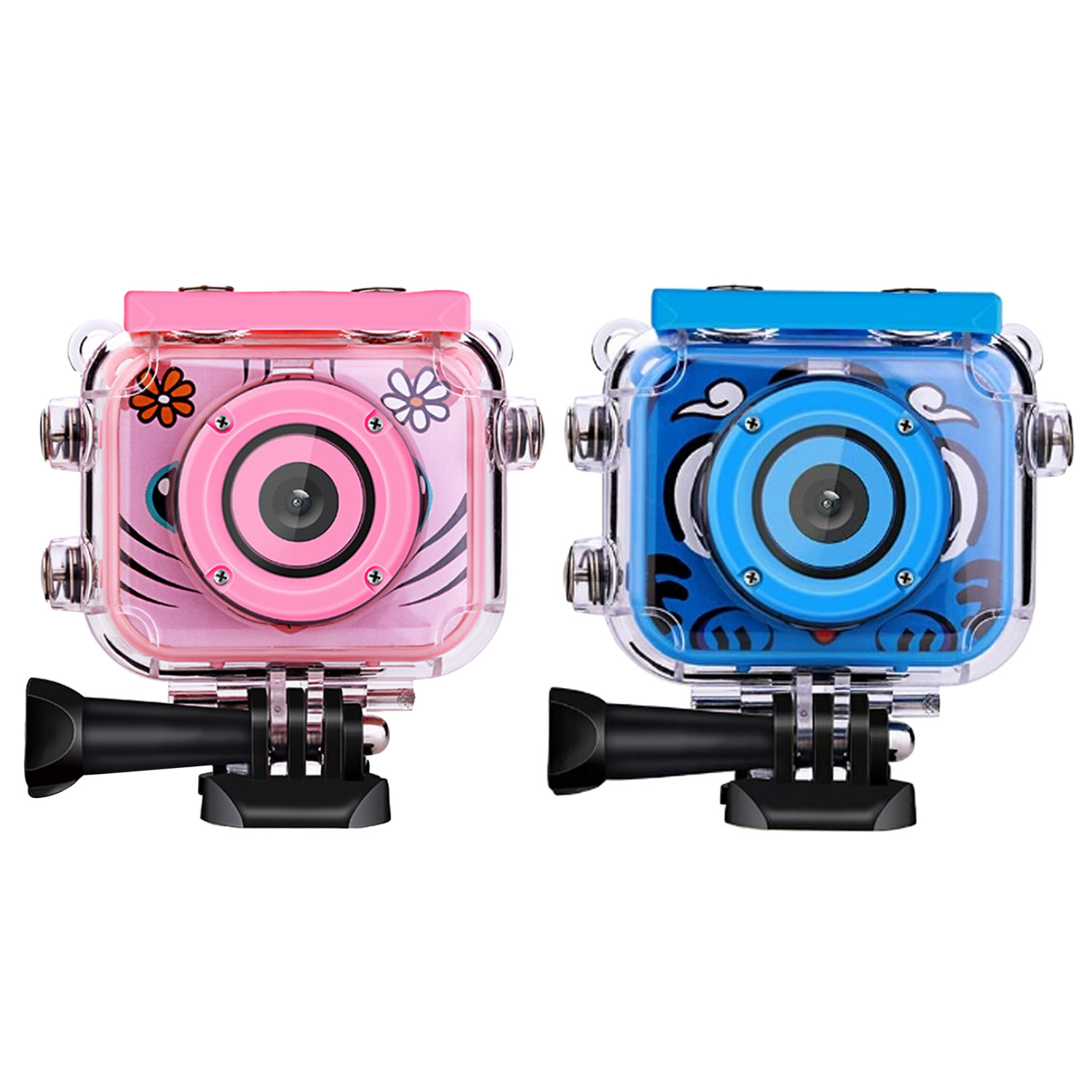 Kids USB Rechargeable 1080P HD Waterproof Action Digital Camera With 2.0inch LCD Screen For Birthday Festival Toy Gift