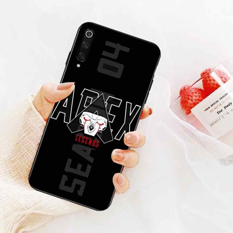 CUTEWANAN strzelanka Apex Legends czarny TPU miękki gumowy pokrowiec na telefon Redmi Note 8 8A 7 6 6A 5 5A 4 4X 4A Go Pro Plus Prime