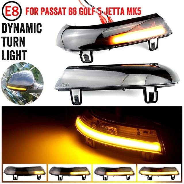 שחור דינמי נצנץ Turn אות LED עבור פולקסווגן גולף 5 GTI Variant Jetta MK5 פאסאט B5.5 B6 בתוספת GT שרן EOS מעולה מראה אור
