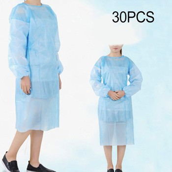 Disposable Protection Gown Dust Spray Suit Siamese Non-woven Dust-proof Anti Splash Clothing Safely Protection Clothes In Stock