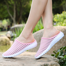 2020 Women Sandals Summer Shoes Half Slippers Flip Flops Mesh Breathable Shoes Sandals Clogs Shoes Woman Platform Big Size 35-40 2020 woman flip flops summer shoes slippers cool beach rivets big bow flat sandals brand jelly shoes sandals girls big size 42