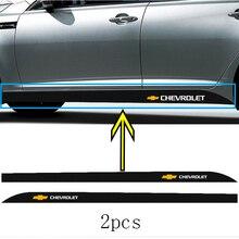 Автомобильный значок, боковая Талия, наклейка из углеродного волокна для chevrolet OPTRA Equinox Lacetti Silverado 1500 2500 3500 Aveo Nubira Cruze, 2 шт.