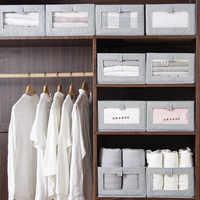 2020 Cube Folding Non-Woven Storage Box For Kids Toys Organizer Wardrobe Finishing Bins Clothing Underwear Shirt Storage Boxes