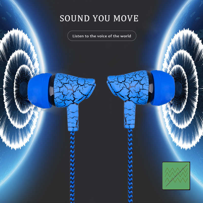 Słuchawki sportowe 3.5mm przewodowy zestaw słuchawkowy super bas Crack słuchawki słuchawki douszne z mikrofonem mikrofon słuchawka do zestawu bezprzewodowego dla Samsung MP3 MP4