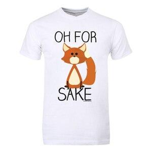 T-Shirt Oh For Fox Sake Men'S White Fitness Tee Shirt New Fashion Design For Men Women(China)