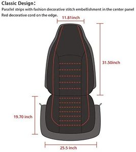 Image 3 - Universal PU Leather Car Front Seat Covers High Back Bucket Seat Cover Fit Most Cars, Trucks, SUVS, 2 PCS Auto Seat Covers