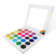 25 farben Neue Regenbogen Lidschatten-palette Private Label Gelb Pigment Pulver Gesicht Lidschatten Pallete Benutzerdefinierte