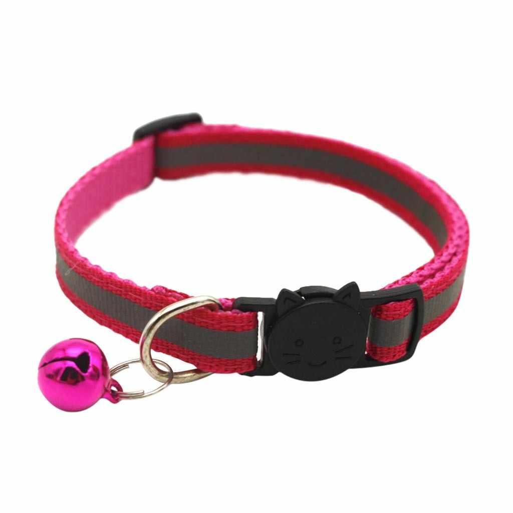 ナイロン猫の首輪パーソナライズペットの首輪名前 ID タグ反射チワワ子猫首輪ネックレスペット犬アクセサリー 64 1080P