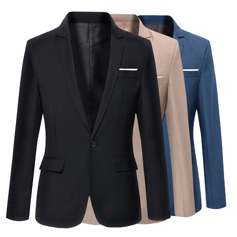 Men'S Wear Autumn New Arrival 2018 Autumn And Winter Fashion Men Korean-style Slim Fit Business Casual Small Suit Clothes